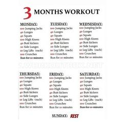 3 month work out