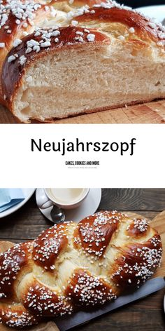 Rezept für Neujahrszopf - Cakes, Cookies and more - New Year's Food, Good Food, International Recipes, Creative Food, Appetizer Recipes, Appetizers, Cake Cookies, Bread Recipes, Brunch