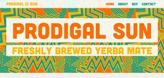 Prodigal Sun Yerba Mata website has a Great Web Design | Best Web Designs