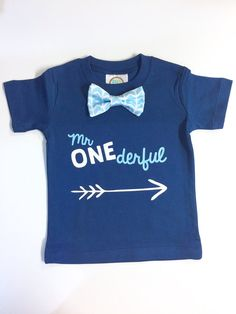Mr Onederful Shirt. Boys First Birthday Shirt. Baby Boy 1st Birthday. 1st Birthday Outfit. Mr Wonderful. One Number Shirt.