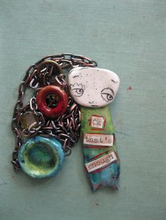 Slightly Rude Pendant  Handmade by Sunny Carvalho by SunnyCDolls, $45.00
