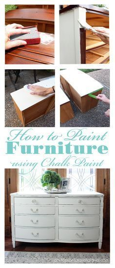 This tutorial shows how to paint furniture with chalk paint, from start to finish.