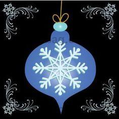 Diddybag Set 7275 - beau Noël Snowflake Ornaments