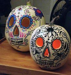 Calavera art has certainly raised the bar on amazing Jack O'Lanterns!