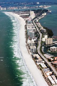 Clearwater Beach includes a resort area and a residential area on the Gulf of Mexico in Pinellas County on the west central coast of Florida. Visit Florida, Florida Usa, Florida Vacation, Florida Travel, Vacation Places, Vacation Spots, Places To Travel, Places To Visit, Vacations