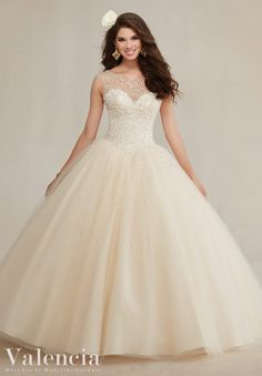 Quincianera Dress Valencia Morilee  Quinceanera dress 89081 Beaded tulle ballgown  Colors:Mint leaf, Champagne, Navy and White