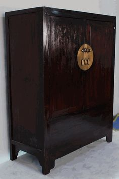 Silk Road Collection   Antique Asian Furniture: Antique Chinese Ming Style  Two Door Large Cabinet