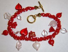 HOLIDAY CHARM Beaded Twist Bracelets  Choice of Two by TessCreates, $14.00