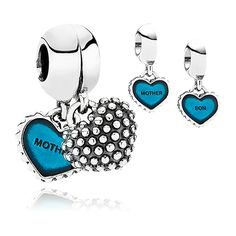 Mother and son Pandora charms