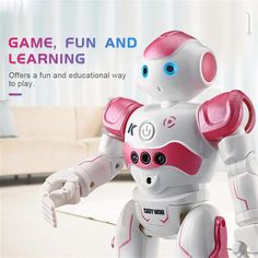 2019 new RC Robot Intelligent Programming Remote Control Toy Biped Humanoid Robot Children Kids Birthday Gift electronic pet - Hot Products Rc Robot, Smart Robot, Intelligent Robot, Humanoid Robot, Robots For Kids, Kids Birthday Gifts, Cool Themes, Interactive Toys, Electronic Toys