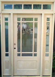 Craftsman Prairie Style  Lite Mahogany Entry Door W Lite - Used front doors
