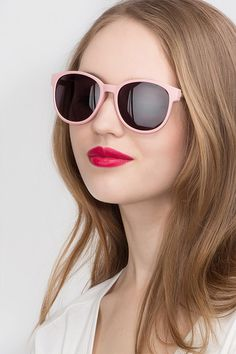 bf058d3bbc Terracotta Matte Pink Plastic Sunglasses from EyeBuyDirect. Exceptional  style