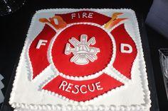 Maltese Cross Groom's Cake Fireman Wedding, Firefighter Wedding, Firefighter Decor, Firefighter Grooms Cake, Fireman Cake, Art Cakes, Cake Art, 80 Birthday Cake, Birthday Ideas