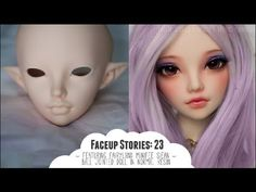 ~Faceup Stories: 23 - doll makeup painted on and eyes / eyelashes done~ Vintage Witch, Vintage Halloween, Halloween Halloween, Halloween Makeup, Halloween Costumes, Polymer Clay Figures, Polymer Clay Dolls, Youtube Dolls, People Figures