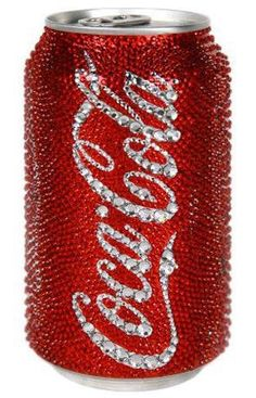 Rhinestone encrusted coca cola can
