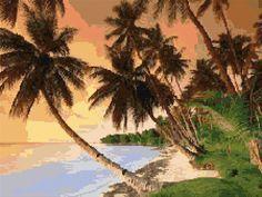 Cross Stitch   Sri Lanka Beach xstitch Chart   Design