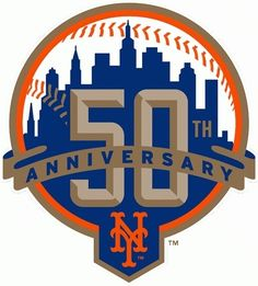 Mets 50th anniversary logo by Michael G. Baron, via Flickr in Saved