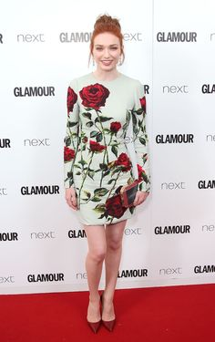 """Eleanor Tomlinson in Dolce&Gabbana attending """"Glamour Women of the Year Awards"""" in London."""