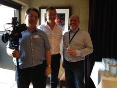 Simon & Paul from Go Vocal Media with our MD Craig Kerrecoe. Go Vocal Media were making a promotional film for us at the event #lovecambridge #loveart