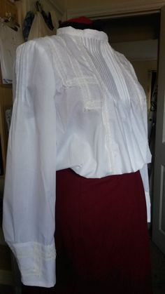 Edwardian Cotton Blouse by BlueLadyCouture on Etsy, £65.00