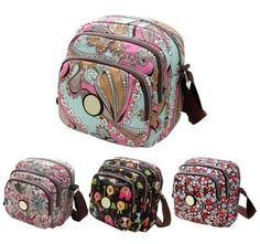 Women Messenger Bags Canvas Flower Print Crossbody Shoulder Bags Handbag BSWB038 #Unbranded #MessengerCrossBody