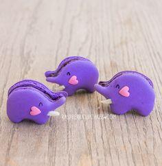 Blueberry Elephant Macarons