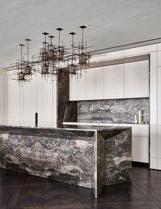 Cadogan Gardens - d-raw Apartment Interior Design, Kitchen Interior, Interior Styling, Kitchen Furniture, Pantry Inspiration, Art Deco Kitchen, Kitchen Peninsula, Freestanding Kitchen, Luxury Kitchen Design