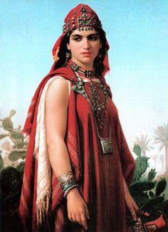 Berber woman by Emile Vernet-Lecomte