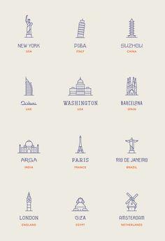 World Landmarks on Behance