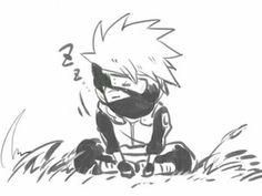 Hatake Kakashi, sleeping, cute, chibi, text; Naruto