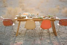 Chic outdoor setting