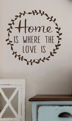 Home is where the love is Vinyl Wall by landbgraphics on Etsy