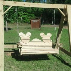 Mickey Swing for two  I would like this on the deck of our new house