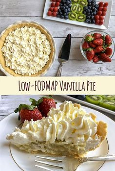 Light tasting, creamy, and absolutely lovely this low-FODMAP Vanilla Pie with Cookie Crust is the perfect dessert for a summertime gathering.
