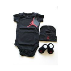 Nike Jordan Infant New Born Baby Boy/Girl Shoulder Bodysuit, Booties... ($30) ❤ liked on Polyvore
