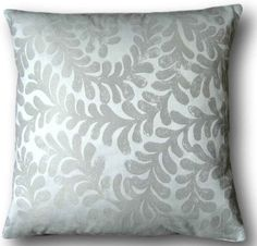 """Cushion Cover Handmade With Laura Ashley's Berkeley Scroll 16"""" Dove Grey Scatter"""