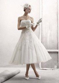Art may have found the short wedding dress... cocktail-tea-length-wedding-dresses