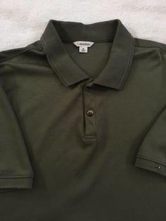 a50ccc0c Calvin Klein Short Sleeve Polo Shirt Army Green 100% Cotton MENS MEDIUM EUC  #fashion #clothing #shoes #accessories #mensclothing #shirts (ebay link)