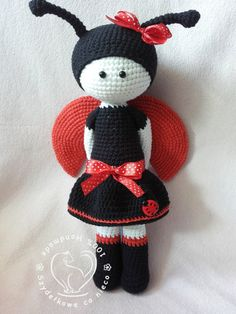 Lilly The Ladybird amigurumi doll by BlueBerryWorld on Etsy