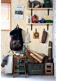 Garage Interior, Outdoor Rooms, Decor Styles, House Ideas, Outdoors, Camping, Display, Adventure, Interior Design