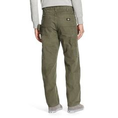 Dickies Men's Big & Tall Relaxed Straight Fit Sanded Duck Canvas Carpenter Jean- Moss (Green) 32x36