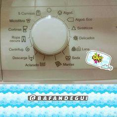 Programas de lavado de la nueva lavadora. Según las instrucciones del fabricante el programa de lana es capaz de lavar hasta las prendas que normalmente se lavan a mano!