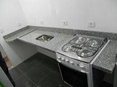 Resultado de imagem para bancada da cozinha com granito cinza Furniture, Corner Desk, Kitchen, Office Desk, Sweet Home, Desk
