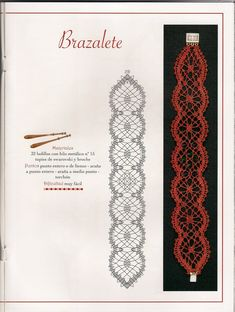 Online shopping from a great selection at Arts, Crafts & Sewing Store. Hairpin Lace Crochet, Crochet Art, Crochet Motif, Jewelry Patterns, Craft Patterns, Bracelet Patterns, Lace Tape, Bobbin Lacemaking, Bobbin Lace Patterns