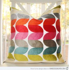 Cozy Bright Color Throw Pillow