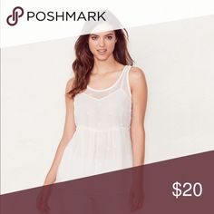 Lauren Conrad beaded peplum top PRODUCT FEATURES •Beaded details •Peplum hem •Scoopneck •Sleeveless •Sheer chiffon overlay •Attached camisole •Back button closure with keyhole accent FABRIC & CARE •Polyester •Hand wash •Imported LC Lauren Conrad Tops Tank Tops