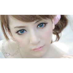 Circle Lenses Barbie Puffy 3-Tones Blue