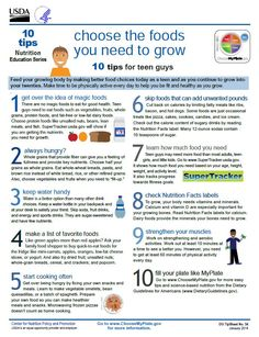10 Tips for Teen Guys from #MyPlate! #nutrition #wellness #printables