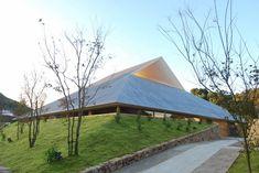 Hiroshi Sambuichi's Naoshima Hall on the island of Naoshima was completed in 2015.