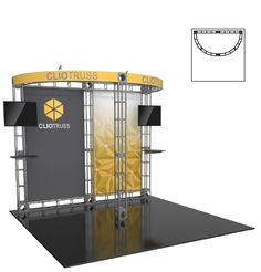 CLIO - 10' X 10' - #Trade#show #Displays #Backwall Call us today for a quote. 1-866-7ULTIMA (1-866-785-8462)